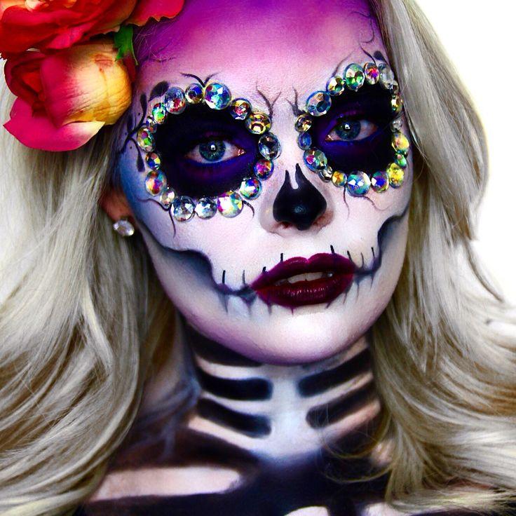 best 20 sugar skull makeup ideas on pinterest. Black Bedroom Furniture Sets. Home Design Ideas