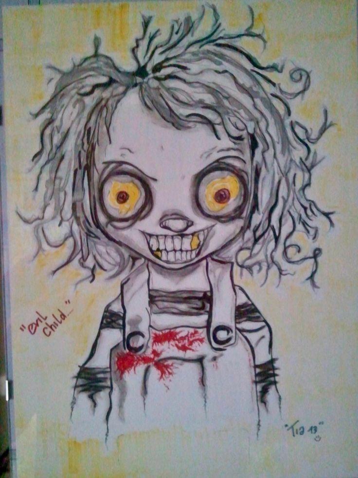 Evil child...
