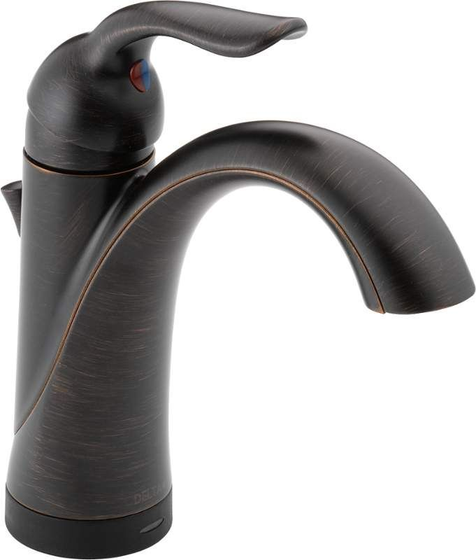 delta 538tdst lahara single hole bathroom faucet with onoff touch and proximit