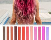 12 Best Temporary ROSE TINT Ombre hair Dye for dark and light hair - Set of 12 | DIY Rose Ombre hair Chalk for easy & simple hair coloring
