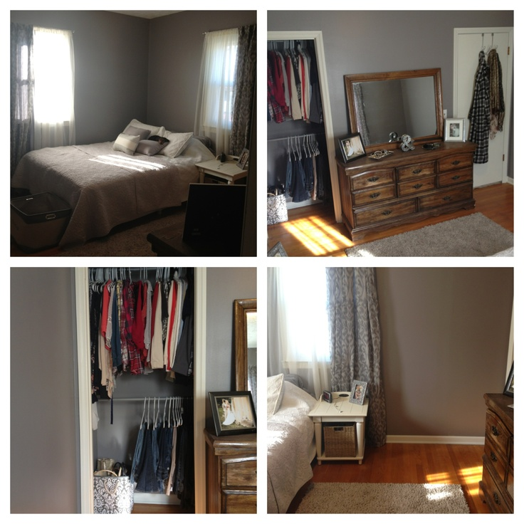Bedroom done cheap... TJ Max was a big help!
