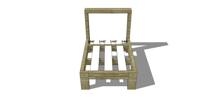 Seat Slats for Free DIY Furniture Plans // How to Build an Armless Chair for the Reef Outdoor Sectional Sofa