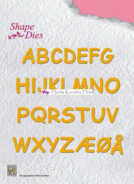 Nellie Snellen - Shape Die - SD037 - Alphabet med æøå. - Nellie Snellen - Heidis Kreative Hule 72kr