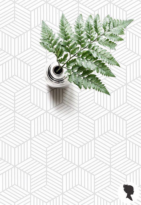 15% OFF Light Grey Cube Pattern Removable Wallpaper or Regular Wallpaper D045-1