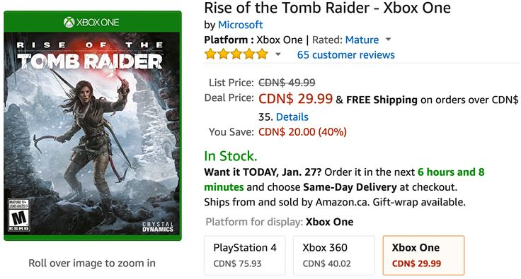Amazon Canada Deals: Save 40% Off Rise of the Tomb Raider  Xbox One 48% on Coway Smart Air Purifier 50% Off V... http://www.lavahotdeals.com/ca/cheap/amazon-canada-deals-save-40-rise-tomb-raider/168147?utm_source=pinterest&utm_medium=rss&utm_campaign=at_lavahotdeals