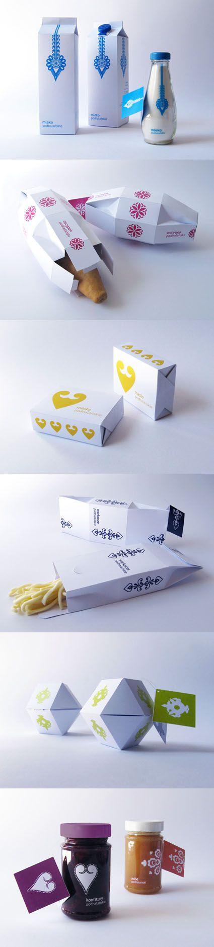 food packaging folk style