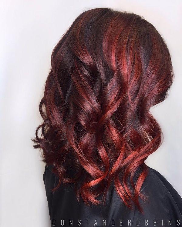 best 25 red highlights hair ideas on pinterest short