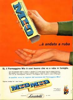 """FLASH 1964 di GENERAZIONI e """"PICK-UP"""": pubblicità - LOCATELLI (formaggino MIO)"""