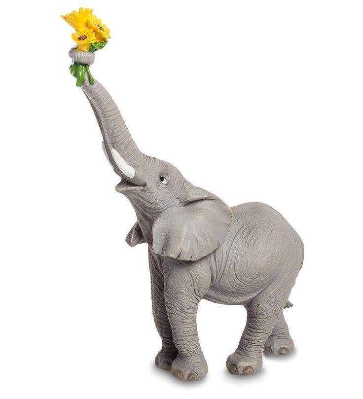 Букет, букет цветов и два слоненка
