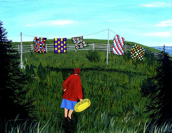 """""""Airing Grandmother's Quilts"""" by Barbara Griffin"""