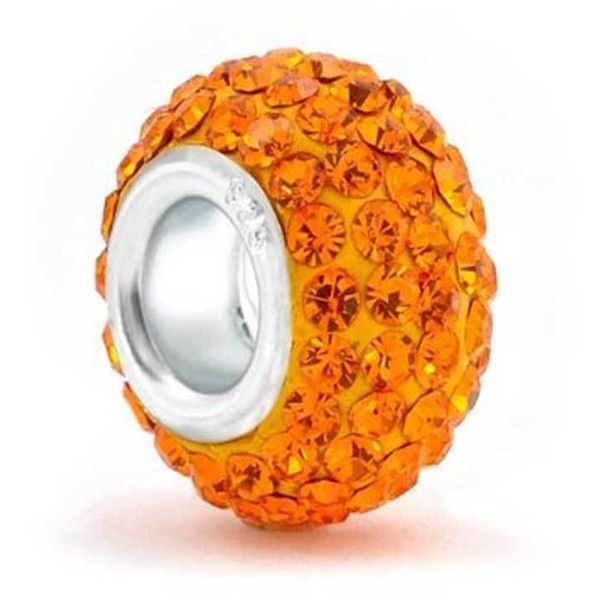 Bling Jewelry Vibrant Orange Charm ($13) ❤ liked on Polyvore featuring jewelry, pendants, bead-charms, charms, orange, beads & charms, beaded jewelry, sterling silver bead jewelry, sterling silver jewellery and sterling silver charms