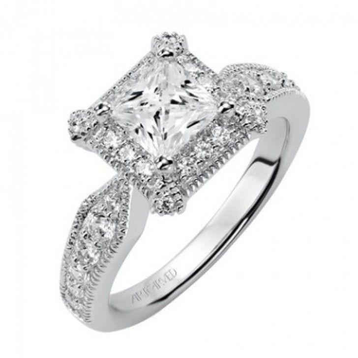 Scott Kay Palladium Engraved Three Sided Diamond Wedding: 71 Best Cushion & Princess Cut Diamond Engagement Rings