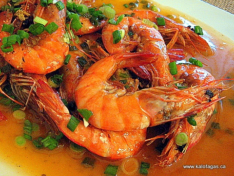 Shrimp With Mastiha