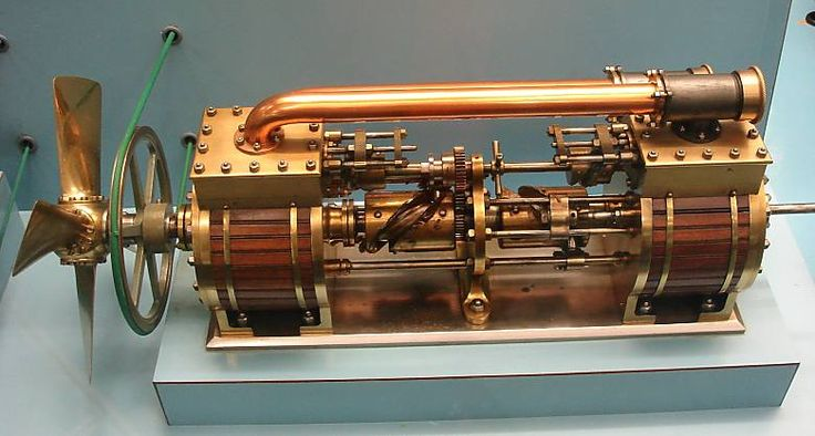 This is an axial or barrel engine, which has multiple cylinders arranged around and parallel to a central shaft, like the chambers in the cylinder of a revolver. The piston thrust is converted to rotary motion by a swashplate, wobble-plate or Z-crank mechanism.