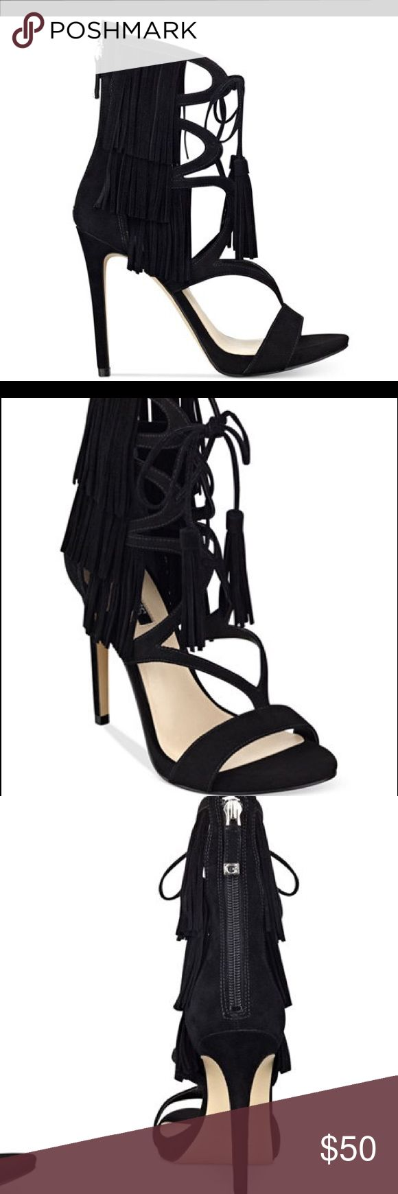 """Never Worn* GUESS Fringe Sandals Heel height: approx 5"""" • NO TRADES GUESS Shoes Sandals"""