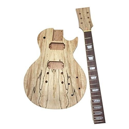 DIY LP Style Spalted Maple Electric Guitar Kit - Build Your Own