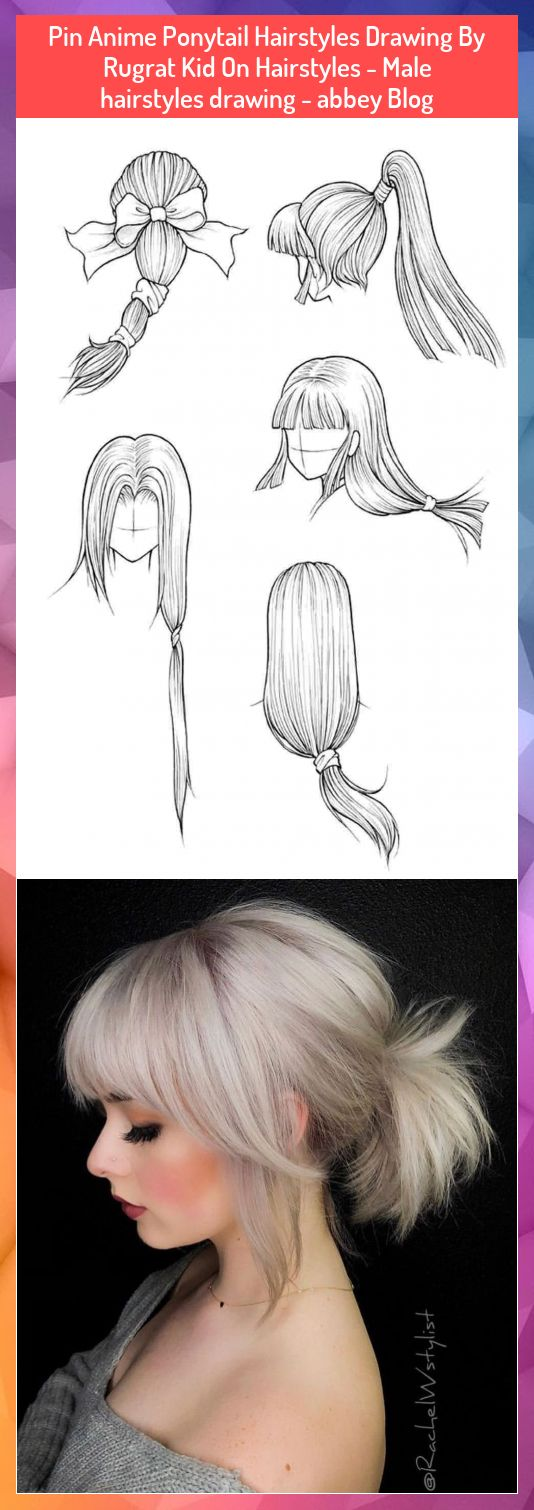 Pin Anime Ponytail Hairstyles Drawing By Rugrat Kid On