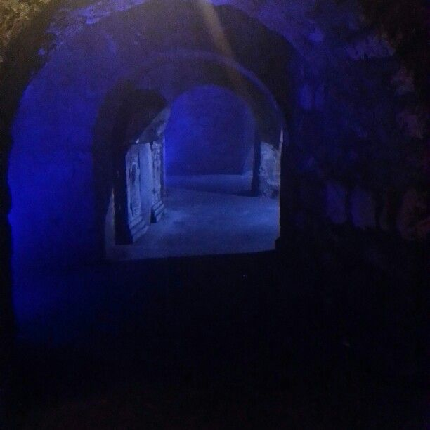 Labyrinth under the castle of budapest - hungary
