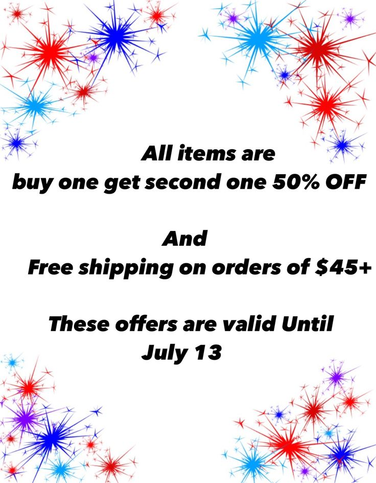 All items are buy one get second one 50% OFF. And Free shipping on orders of $45+ This offers are valid Until July 13 energeticdancewear.com