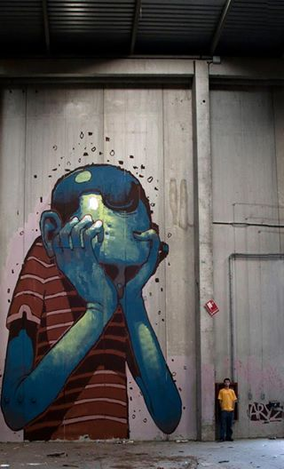Foto: • ARTIST . ARYZ •  ◦ Untitled ◦ location: Barcelona, Spain #streetart