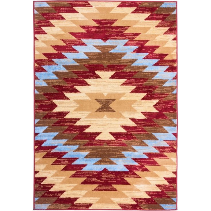 Well Woven Malibu Southwestern Kilim Red Multi Polypropylene Rug 82 X 910 Living Room RugsDining