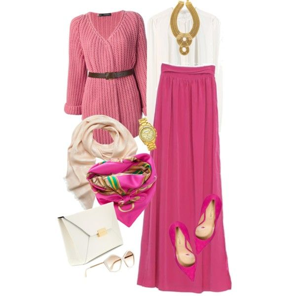 Hijab style by Leyliya 2014 by hleyliy on Polyvore featuring polyvore, fashion, style, Dsquared2, Vanessa Bruno, Sergio Rossi, STELLA McCARTNEY, Auden, Michael Kors and Ralph Lauren Blue Label