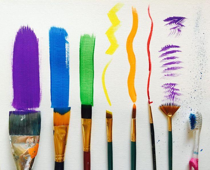 Best 25 brush strokes ideas on pinterest brush strokes for Acrylic brush techniques