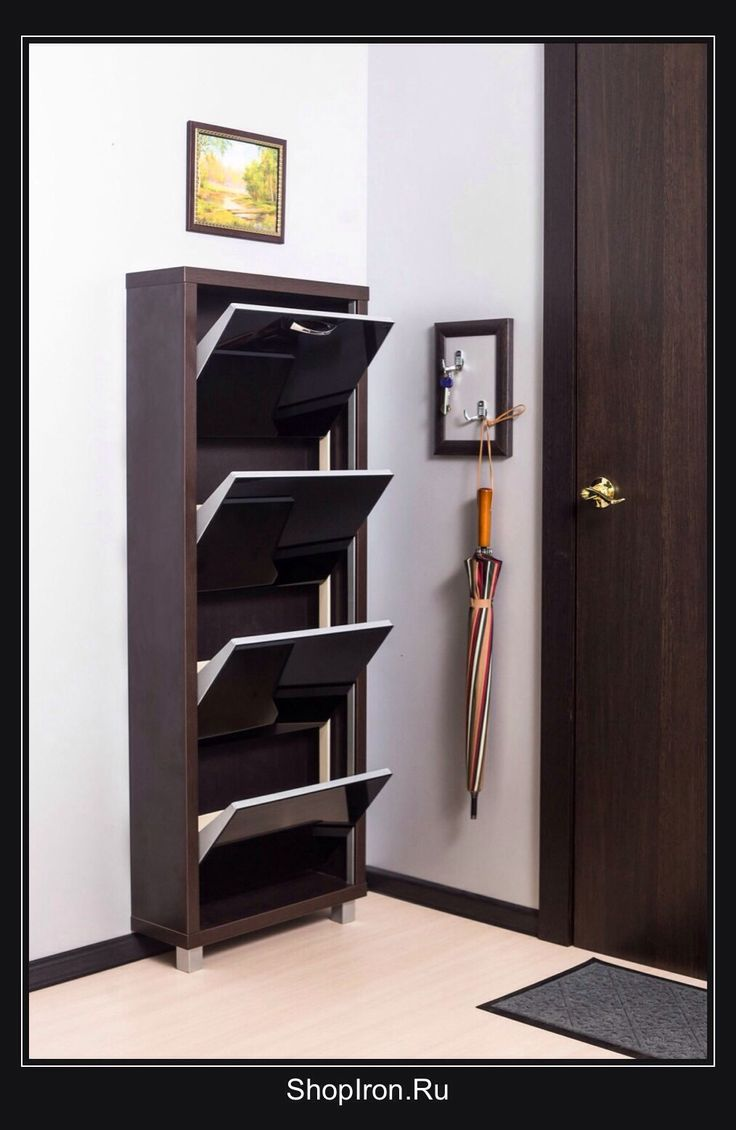 shoe cabinet iron lux color wenge facade of black glass four section www
