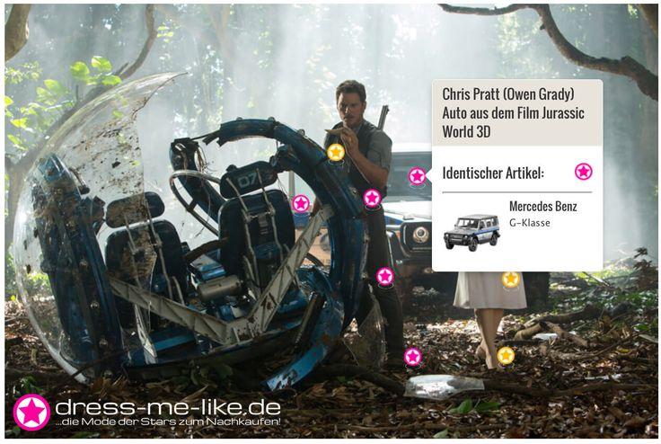 Chris Pratt (Owen Grady) Auto (Mercedes Benz G-Klasse) aus dem Film Jurassic World 3D