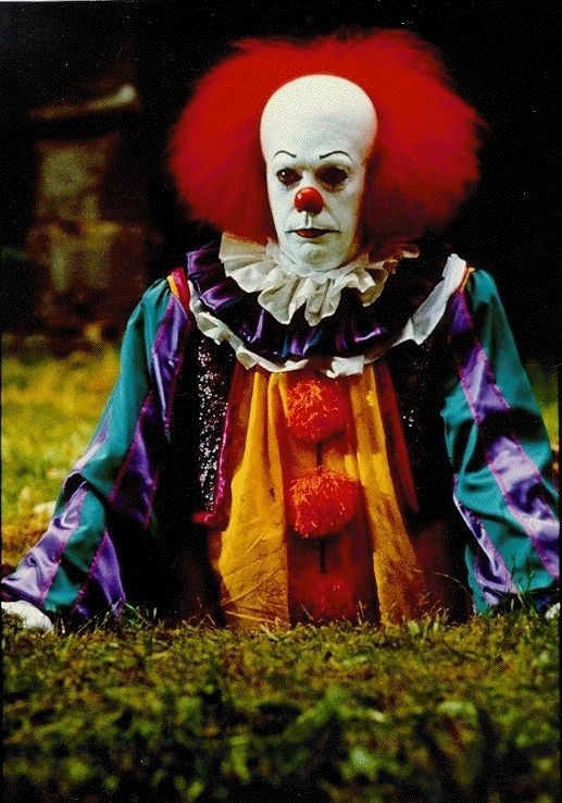 "Pennywise, one of the most frightening characters ever created - ""IT"" by Stephen King"