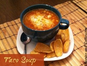 Best Ever Taco Soup! Cook in the crock pot or on the stove! I need some easy meals for these last few lazy weeks of pregnancy. (: