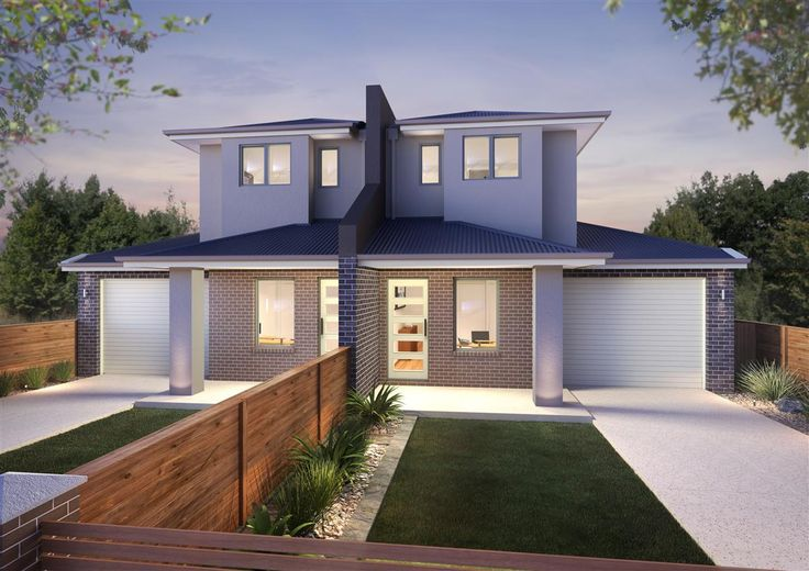 Aurora 214 dual occupancy home designs in victoria g for Contemporary townhouse plans