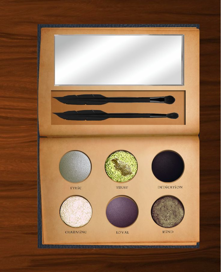 """Harry Potter"" Makeup Palette, Hufflepuff, they don't really exist, but I still need them in my life"