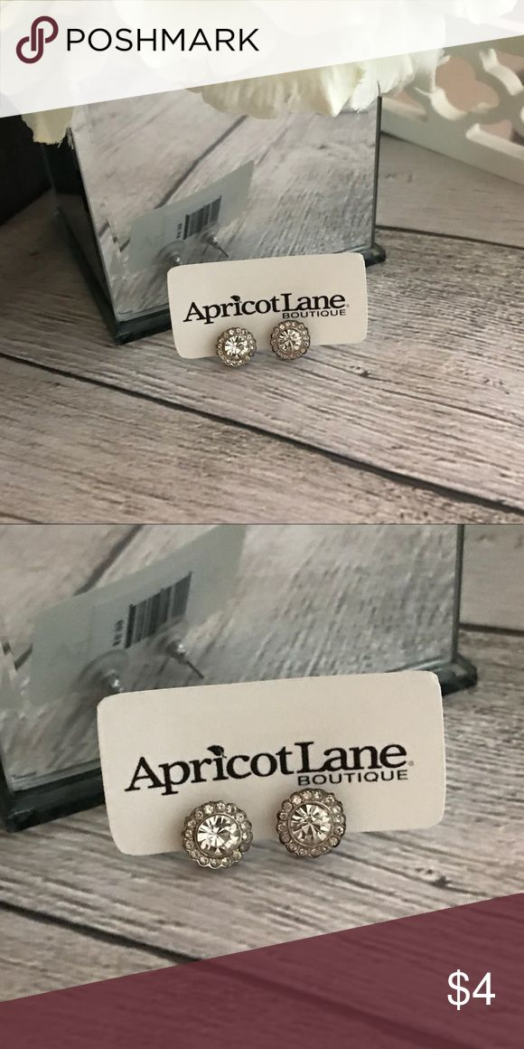 "Apricot Lane Boutique • Silver stud earrings Great studs to add sparkle to any outfit! Lightly worn. In overall good condition. Bought from a local boutique. From a pet free and smoke free home. Approx. 1/4"" in diameter. Apricot Lane Jewelry Earrings"
