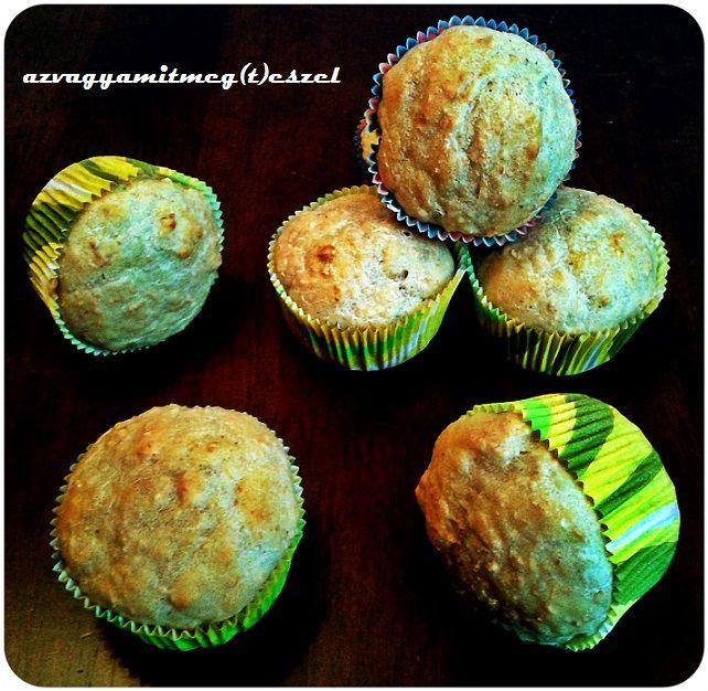 Foszlós zabos zsemle-muffin (tejmentes, tojásmentes recept)