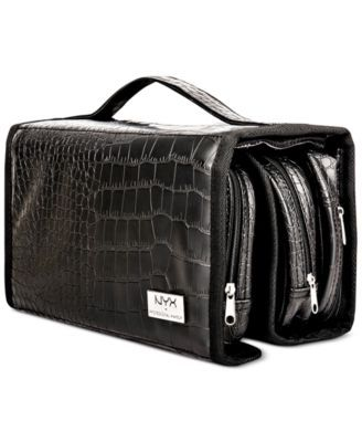 NYX Professional Makeup Black Croc-Embossed Deluxe Makeup Bag | macys.com