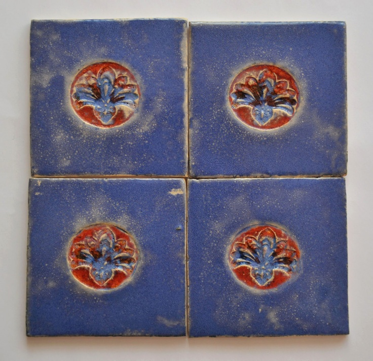 C e r a m i k a r n i a: PŁYTKI FLOWER ON THE SEA / FLOWER ON THE SEA TILES - lovely tiles made by this Polish potter