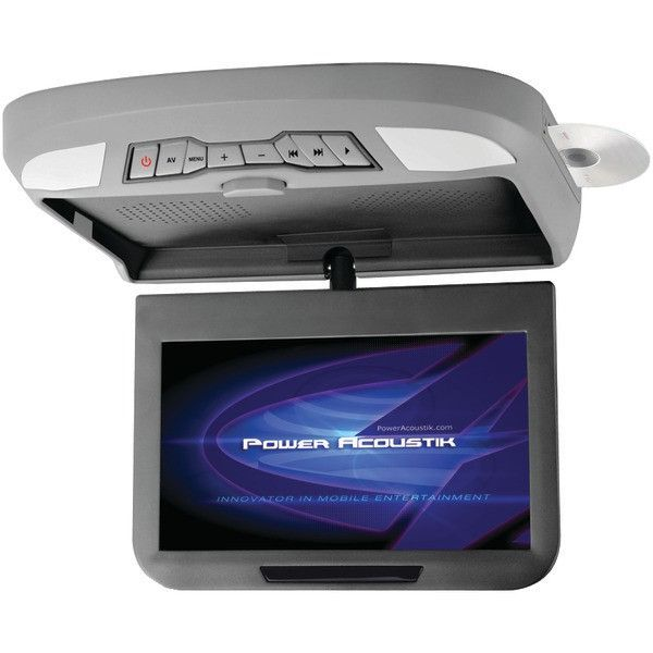 """POWER ACOUSTIK PMD-102X 10.2"""" Ceiling-Mount Swivel DVD Entertainment System with IR & FM Transmitters & 3 Interchangeable Skins"""