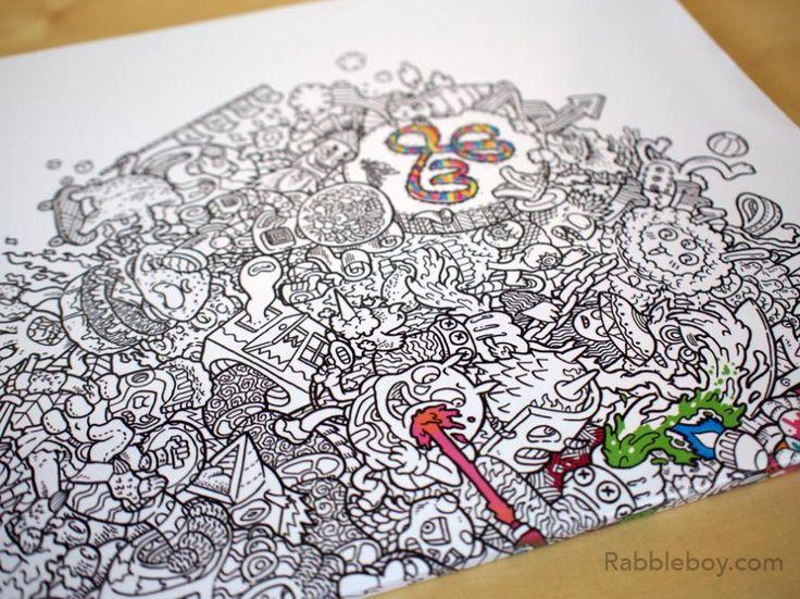 Amazon Doodle Fusion Zifflins Coloring Book Volume 2