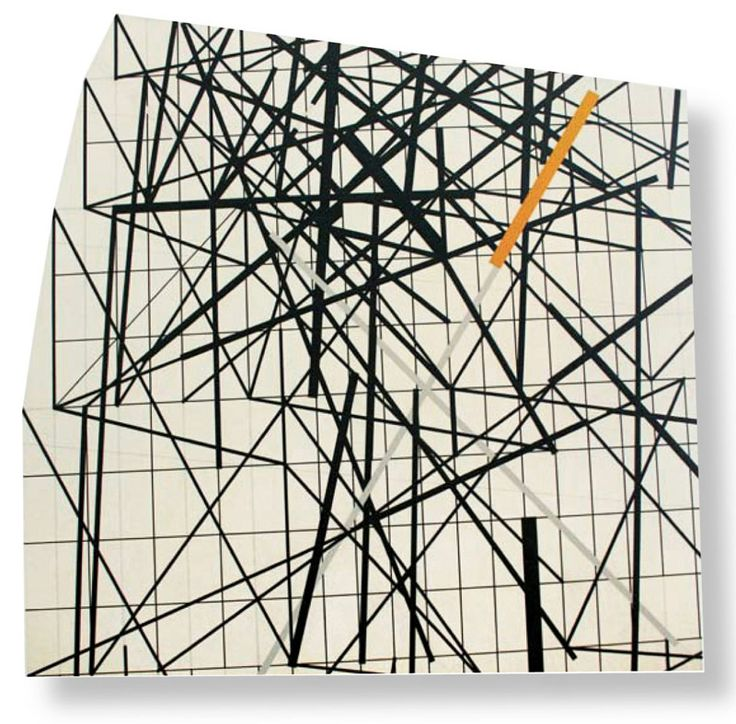 Will Insley: Wall Fragment No. 93.11. 1993. Acrylic on masonite. 80 x 80 inches