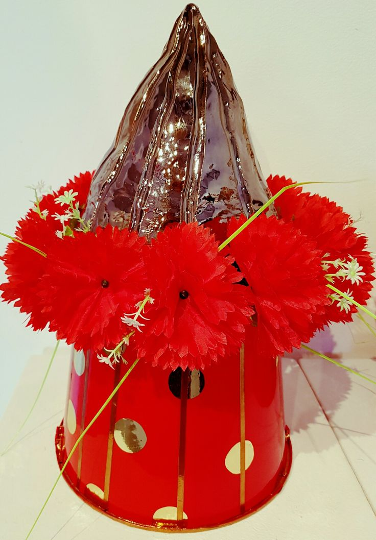 'Togo' in Volcano Hat series in Everything the Rises @ Back to Back Galleries, Cooks Hill.