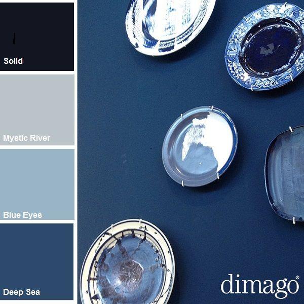 #Blauw: kleur van de winter Het is vooral een rustgevende #kleur, die ook een gevoel van veiligheid en zekerheid geeft. Vaak wordt de kleur blauw gebruikt in slaapkamers. Als je rekening houdt met de betekenis van kleuren, dan kun je er je voordeel mee doen. Meer kleuren zien? http://www.decohome.nl/assortiment/merken/new-traditionals-dimago/doe-het-zelf-verf