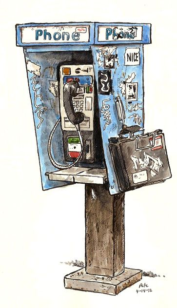 G Street Phone Box by Pete Scully.  Today is 11/15/2014 and I've seen a dozen new pay phones in the last couple months. Interesting comeback.