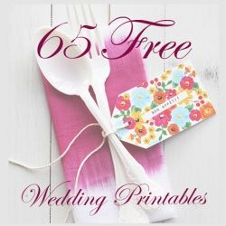 65 Free beautiful printables for the DIY lovers or brides on a budget!