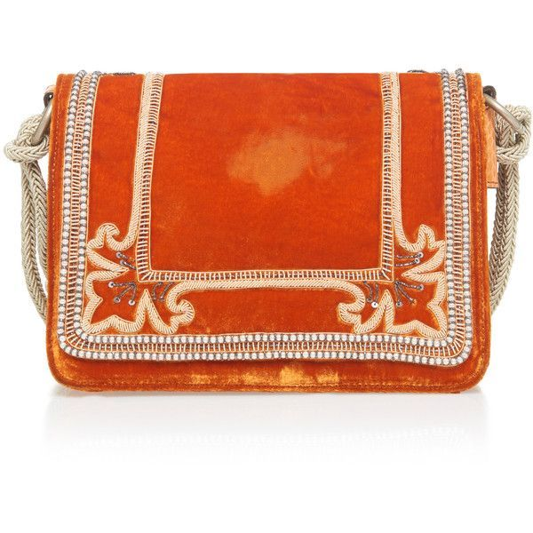 Etro Embroidered Shoulder Bag ($2,325) ❤ liked on Polyvore featuring bags, handbags, shoulder bags, etro purse, fold-over handbags, embroidered purse, embroidery purse and orange shoulder bag - Sale! Up to 75% OFF! Shot at Stylizio for women's and men's designer handbags, luxury sunglasses, watches, jewelry, purses, wallets, clothes, underwear & more!