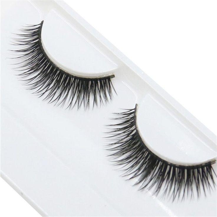 Natural Beauty Dense A Pair False Eyelashes Individual Fake False Eyelashes Long Eyelashes Extension Makeup Eye Lashes SP23