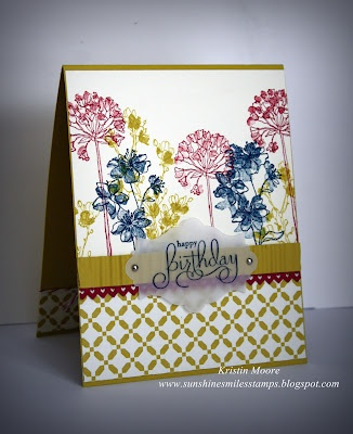 Sunshine, Smiles & Stamps= Lovin' Life blog by Kristen Moore. Stampin up - simply soft