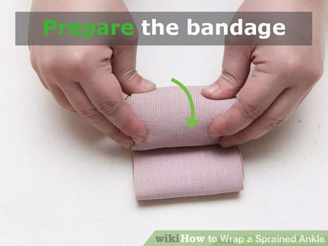 Image titled Wrap a Sprained Ankle Step 12