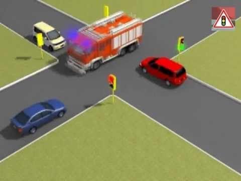 Ordre de passage des voitures - Véhicules prioritaires.