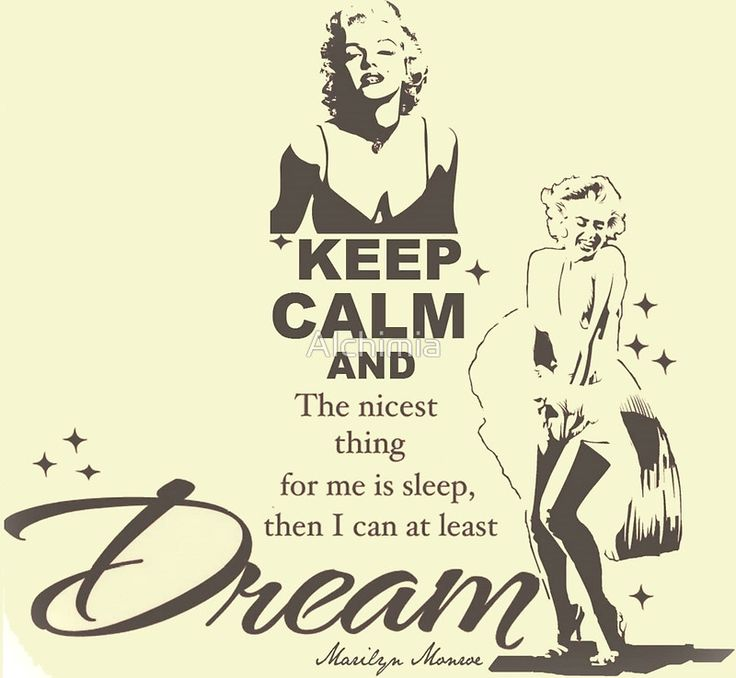 """Keep Calm Theory - MARILYN DREAM"" Posters by Alchimia 